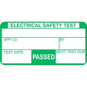 50mm x 25mm (500 roll) PASSED Appliance Safety PAT Test Labels