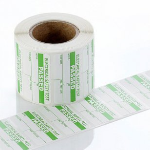 50mm x 25mm (500 roll) PASSED PAT Test Labels