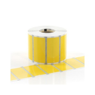 Q-L100100YWV - Gloss Yellow Vinyl Labels 100mm x 100mm