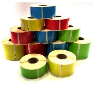 Q-L10154DTRBYG - Multi Purpose Address Labels Rainbow Pack - 4 rolls