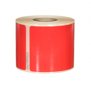 Q-L10154DTRD - Red Multi Purpose labels 220 labels per roll 101mm x 54mm