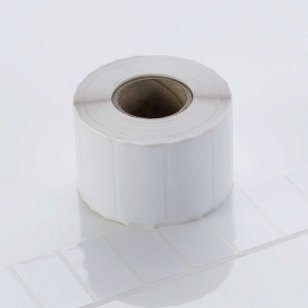 Q-L3838GWP25 - Gloss White Polyester Labels 38mm x 38mm