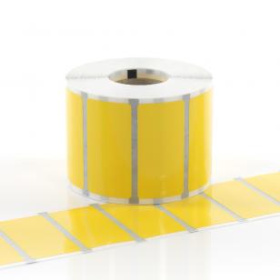 Q-L5025YWV - Gloss Yellow Vinyl Labels 50mm x 25mm
