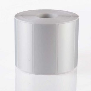 Q-L7030MPSIL25 - Matt Silver Polyester Labels 70mm x 30mm