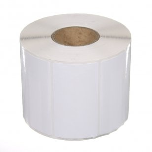 Q-L7540WTV - Gloss White Vinyl Labels 75mm x 40mm