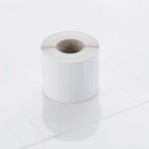 Q-L7650GWP25 - Gloss White Polyester Labels 76mm x 50mm
