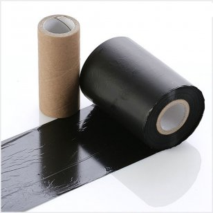 Q-R076FABRIC Black Garment Print Ribbon 76mm x 300m