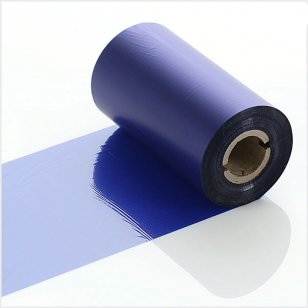 Q-R110BUI Blue Industrial LabelStation Print Ribbon 110mm x 300m