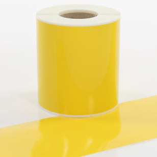 Q-V100YW Yellow Continuous Vinyl Rolls 100mm x 40m
