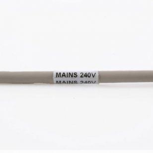 Q-VSL-0125W - Self Laminating Vinyl Cable Marker 25.4mm x 98.5mm