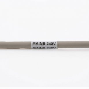 Q-VSL-0625W - Self Laminating Vinyl Cable Marker 19mm x 45mm